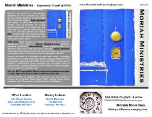 Moriah 2013:14 Brochure - 1