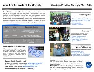 Moriah 2013:14 Brochure - 2
