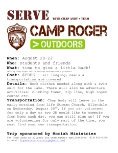 Serve Camp Roger Flyer