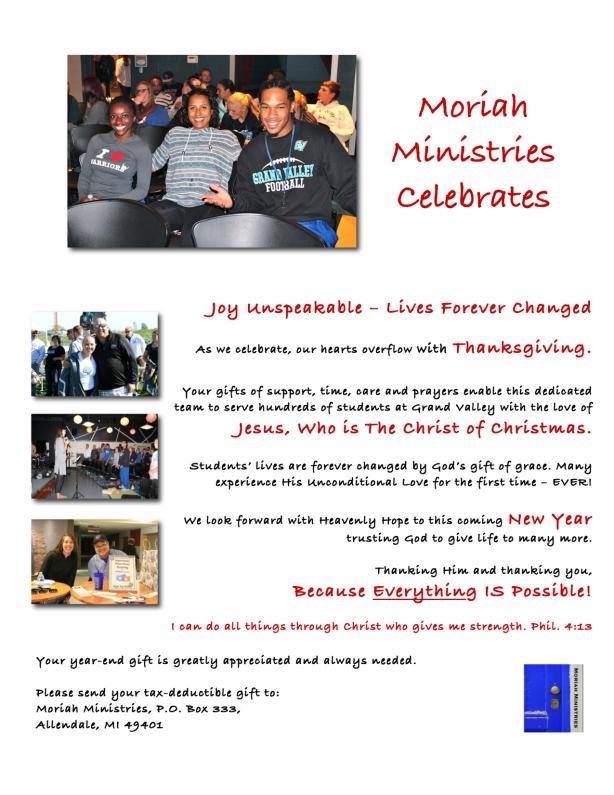 Moriah Ministries Celebrates 2014