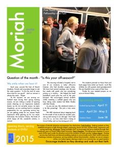 Easter Newsletter - 1