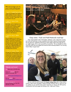 Easter Newsletter - 2