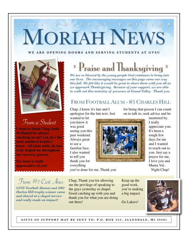 Holiday News 2015 - 1