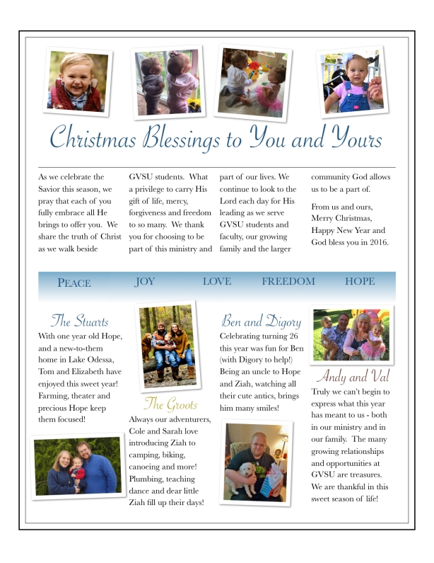 McDaniel Holiday News 2015
