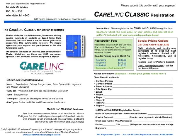 CareLinc Classic 2016 Registration - 2