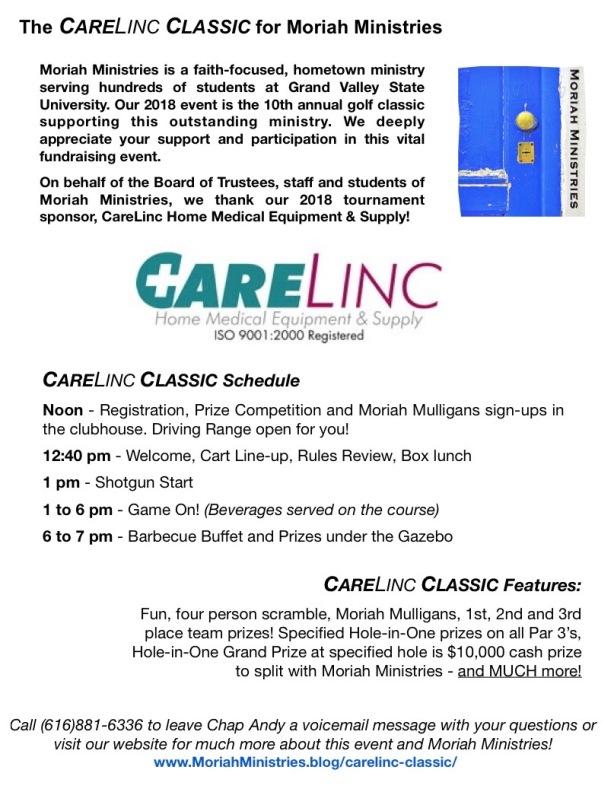 CareLinc Classic 2018 Registration 2
