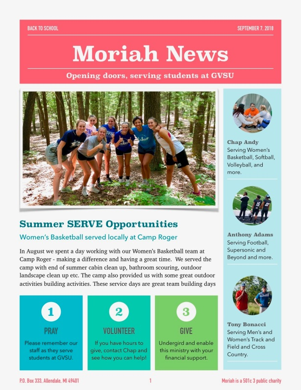 Fall Newsletter 2018 - 1