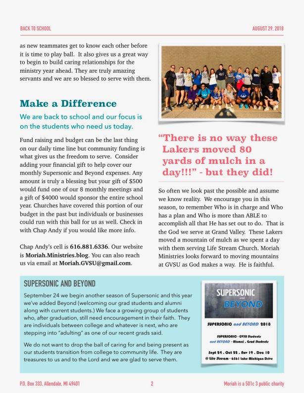 Fall Newsletter 2018 - 2
